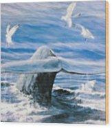 Whale Wood Print