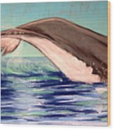 Whale Tail    Pastel   Sold Wood Print