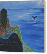Whale Watcher Wood Print