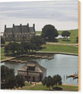 Whalehead Club And Boathouse Wood Print
