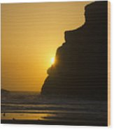 Whales Head Beach Oregon Sunset 2 Wood Print