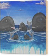 Whales Tail Waterfall Wood Print