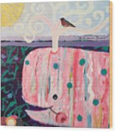 Whale's Tale The Beginning Of The End Wood Print