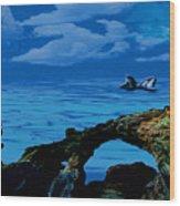 Whales Tales Wood Print