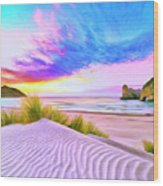 Wharariki Beach Wood Print