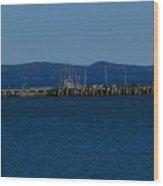 Wharf  Wood Print