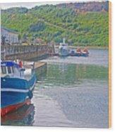 Wharf Near Angelmo Fish Market In Puerto Montt-chile  Wood Print