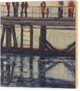 Wharf Reflections@ Halifax N. S. Wood Print