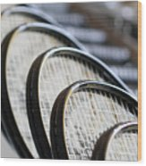 What A Racquet Wood Print