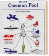 What Britain Puts In The Common Pool Wood Print
