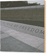 What Does Freedom Cost? Wood Print