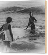 What's Up Surfer Girl Wood Print