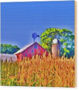 Wheat Farm Near Gettysburg Wood Print