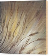 Wheat In The Wind Wood Print
