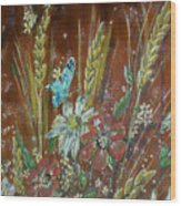 Wheat 'n' Wildflowers I Wood Print