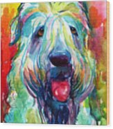 Wheaten Terrier Dog Portrait Wood Print