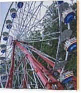 Wheel At The Fair Wood Print