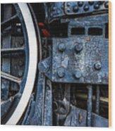 Wheel In Black II Wood Print