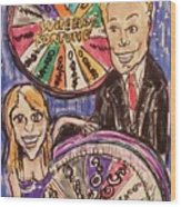 Wheel Of Fortune Pat Sajak And Vanna White Wood Print
