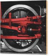 Wheel Of Red Steel Wood Print