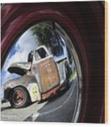 Wheel Reflections Wood Print