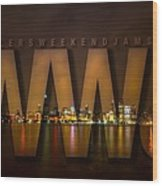 Wheelers Weekend Jams-live And Direct Wood Print