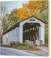 Wheeling Covered Bridge Wood Print