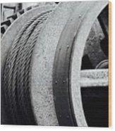Wheels And Pulleys  Wood Print