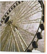 Wheels In The Wind Wood Print