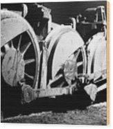 Wheels Of Steam Engine Wood Print