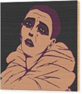 Weeping Pierrot Wood Print