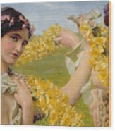 When Flowers Return Wood Print
