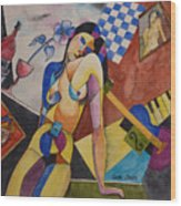 When Modigliani Met Picasso Wood Print