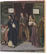 When Pawnbrokers Or Closed Bank Wood Print