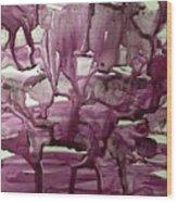 When Red Rocks Weep  Wood Print