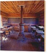 When School Was In 1-room Wood Print