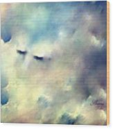 When Sleeping In The Clouds Wood Print
