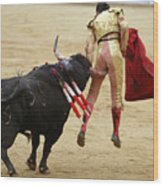When The Bull Gores The Matador I Wood Print