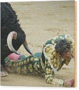 When The Bull Gores The Matador II Wood Print