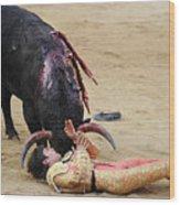 When The Bull Gores The Matador Vii Wood Print