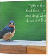 When The Dawn Is Still Dark Wood Print by Diane E Berry