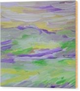 When The Sky Is Yellow The Purple Emerges Wood Print
