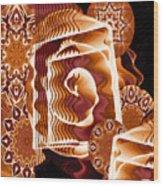 When Worlds Kaleide Wood Print