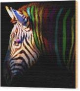 When Zebras Dream 7d8908 Square Wood Print