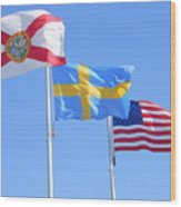 Where Florida Sweden And Us Meet Wood Print