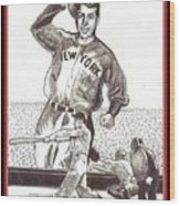 Where Have You Gone Joe Dimaggio  Wood Print by Ray Tapajna