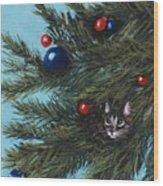 Where Is Santa Wood Print