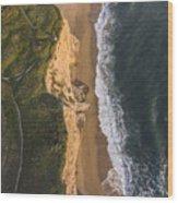 Where Land Meets The Sea Wood Print