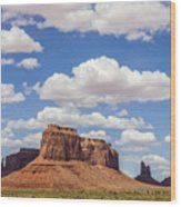 Where The Earth Meets The Sky Wood Print