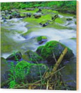Where The Golden Waters Flow Wood Print